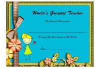 Best Teacher Certificate Template 10