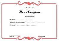 Best Teacher Certificate Template 2