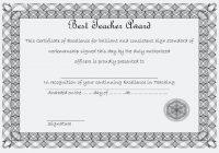 Best Teacher Certificate Template 3