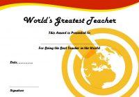 Best Teacher Certificate Template 4