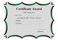 Best Teacher Certificate Template 6