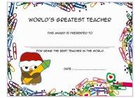 Best Teacher Certificate Template 9