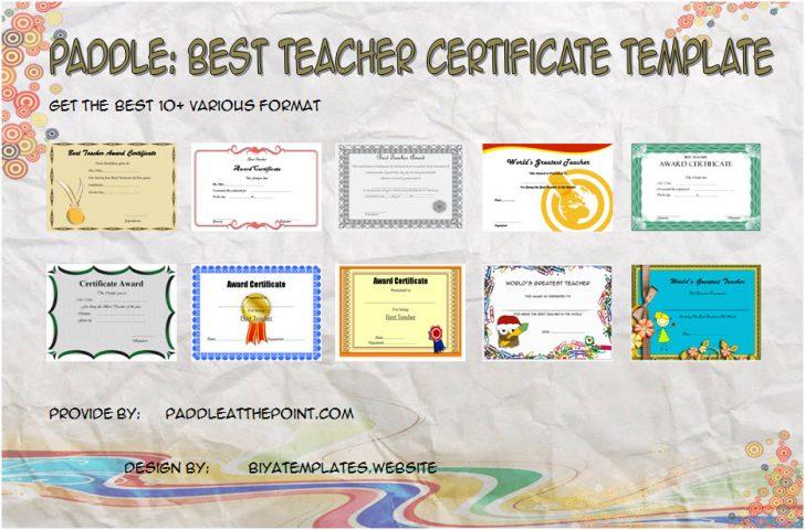 Permalink to Best Teacher Certificate Templates: The 10 Fresh Ideas Free