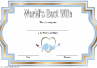Best Wife Certificate Template 1