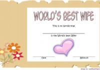 Best Wife Certificate Template 2