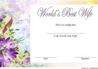 Best Wife Certificate Template 3