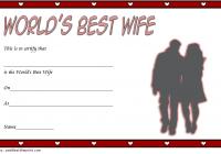 Best Wife Certificate Template 5