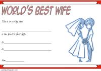 Best Wife Certificate Template 6
