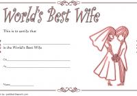 Best Wife Certificate Template 7