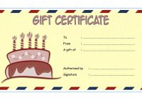 Happy Birthday Gift Certificate 1