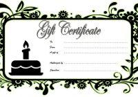 Happy Birthday Gift Certificate 2