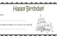 Happy Birthday Gift Certificate 3