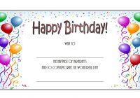Happy Birthday Gift Certificate 4