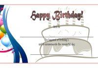 Happy Birthday Gift Certificate 5