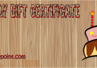 Birthday Gift Certificate Template Free Printable by Paddle