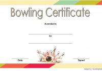 Bowling Certificate Template 2