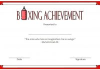 Boxing Certificate Template 1