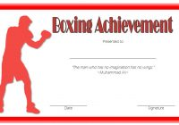 Boxing Certificate Template 2