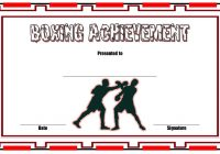 Boxing Certificate Template 3