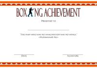 Boxing Certificate Template