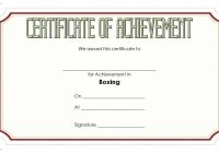 Boxing Certificate Template 4
