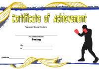 Boxing Certificate Template 5
