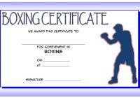 Boxing Certificate Template 6