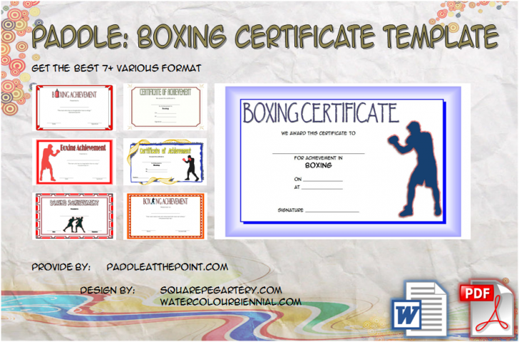 Permalink to Boxing Certificate Template – 7+ Great Fighter Award Ideas