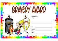 Bravery Award Certificate Template 1