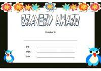Bravery Award Certificate Template 2