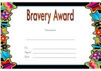 Bravery Award Certificate Template