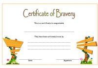 Bravery Award Certificate Template 4