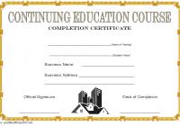 CEU Certificate Template 7
