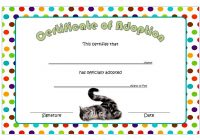Cat Adoption Certificate Template 2