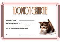 Cat Adoption Certificate Template 3