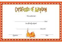 Cat Adoption Certificate Template