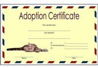 Cat Adoption Certificate Template 4