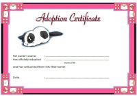 Cat Adoption Certificate Template 5