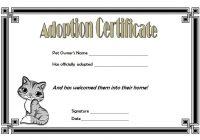 Cat Adoption Certificate Template 6