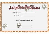 Cat Adoption Certificate Template 7