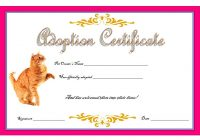 Cat Adoption Certificate Template 8