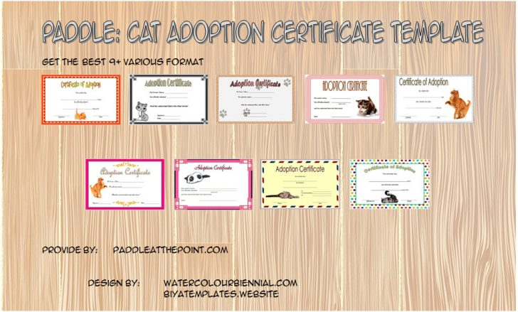 Permalink to Cat Adoption Certificate Template
