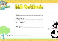 Cat Birth Certificate Template 3