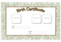 Cat Birth Certificate Template 5