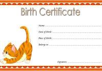 Cat Birth Certificate Template 8