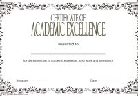 Certificate of Acedemic Excellence with Old Style 1
