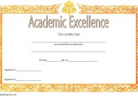 Certificate of Acedemic Excellence with Old Style 2