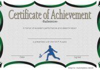 Certificate of Achievement for Badminton 2