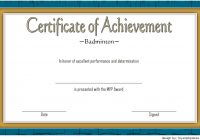Certificate of Achievement for Badminton