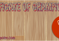 Certificate of Championship Template Ideas by Paddle